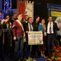 La delegazione di Terme Vigliatore durante la premiazione